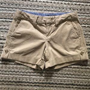 Banana Republic size 0 khaki cuffed shorts